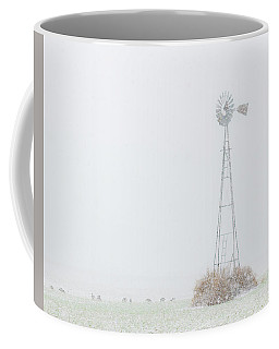Coffee Mug featuring the photograph Snow And Windmill 02 by Rob Graham