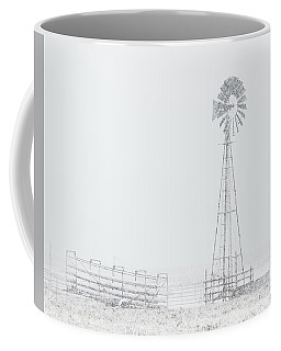 Coffee Mug featuring the photograph Snow And Windmill 03 by Rob Graham