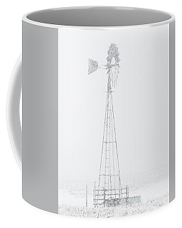 Coffee Mug featuring the photograph Snow And Windmill 04 by Rob Graham