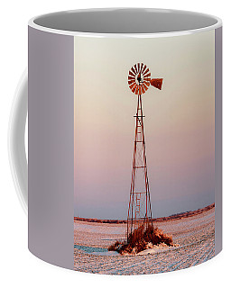 Coffee Mug featuring the photograph Snow And Windmill 07 by Rob Graham