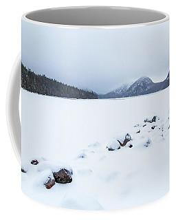 Snow Cover Jordan Pond Coffee Mug