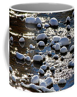 Snow Covered Rocks Coffee Mug