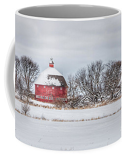 Snow Covered Round Barn Coffee Mug
