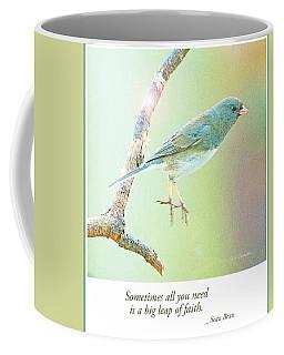 Snowbird Jumps From Tree Branch Coffee Mug