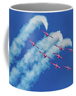 Snowbirds Flying Upside Down Coffee Mug