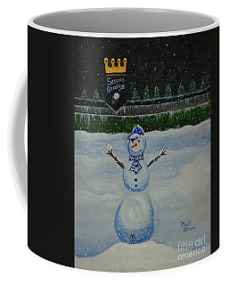 Snowman On The Hill At The K Coffee Mug