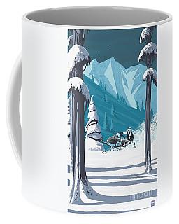 Snowmobile Landscape Coffee Mug