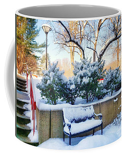 Snowy Bench Coffee Mug