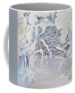 Snowy Branches In Neutrals Coffee Mug