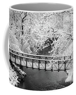 Snowy Bridge On Mill Creek Coffee Mug