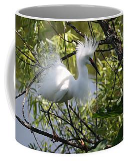 Coffee Mug featuring the photograph Snowy Egret 4031202 by Rick Veldman