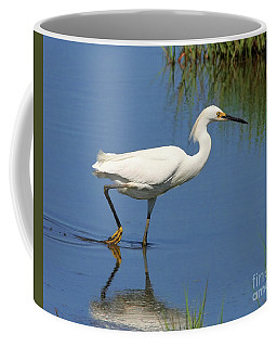 Coffee Mug featuring the photograph Snowy Egret by Debbie Stahre