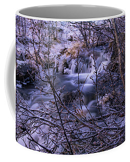 Snowy Forest With Long Exposure Coffee Mug