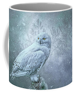 Snowy Owl In Winter Coffee Mug