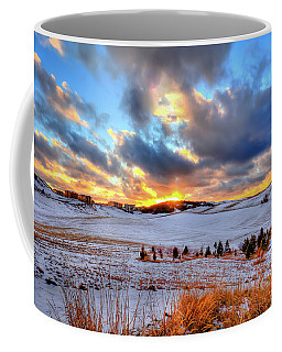 Coffee Mug featuring the photograph Snowy Sunset by David Patterson