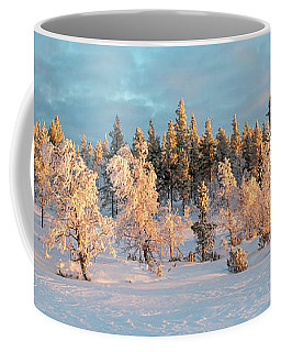 Snowy Trees Winter Panorama Coffee Mug