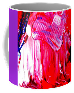Coffee Mug featuring the painting Soaring In Red Abstract Maha by VIVA Anderson