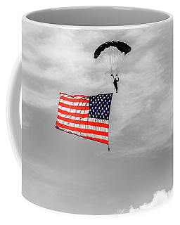 Socom Flag Jump In Selective Color Coffee Mug