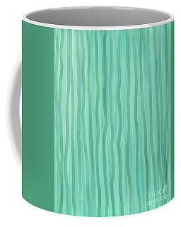 Soft Green Lines Coffee Mug