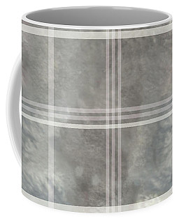 Soft Textured Cream And Blue Plaid Coffee Mug