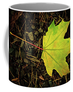 Solitary Yellow Leaf Coffee Mug