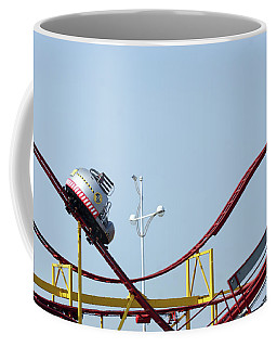 Southport.  The Fairground. Crash Test Ride. Coffee Mug
