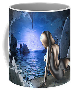 Space Fantasy Goddess Galaxy Ice Worlds Multimedia Digital Artwork Coffee Mug