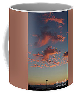 Space Needle And Pink Clouds Coffee Mug