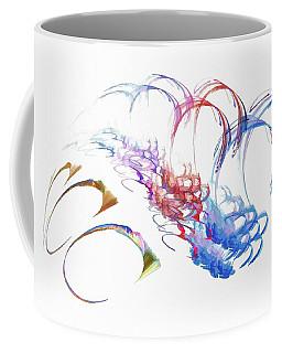 Coffee Mug featuring the digital art Spacecraft Dark Blue by Don Northup