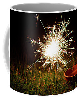 Coffee Mug featuring the photograph Sparkler In A Plant Pot by Scott Lyons