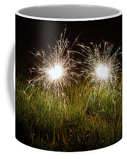 Coffee Mug featuring the photograph Sparklers In The Grass by Scott Lyons