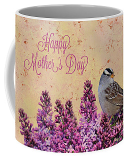 Sparrow In The Lilacs Mother's Day Card Coffee Mug