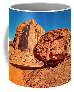 Coffee Mug featuring the photograph Spearhead Mesa's Balancing Rock by Andy Crawford