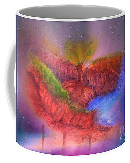 Coffee Mug featuring the mixed media Spec In The Galaxy by Sabine ShintaraRose
