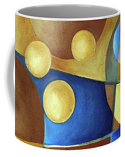 Coffee Mug featuring the painting Spheres by Arttantra