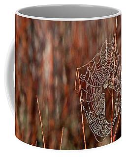 Coffee Mug featuring the photograph Spider's Web by Ann E Robson