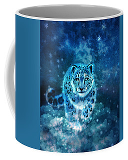 Spirit Snow Leopard In Mystical Twilight Sky Coffee Mug