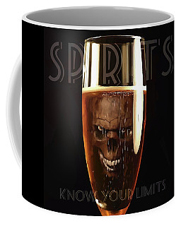 Coffee Mug featuring the digital art Spirits - Know Your Limits by ISAW Company