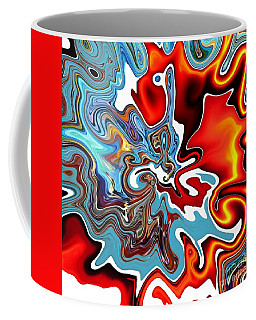 Coffee Mug featuring the digital art Splash by A zakaria Mami