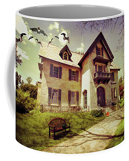 Coffee Mug featuring the photograph Spooky Mansion  by Trina Ansel