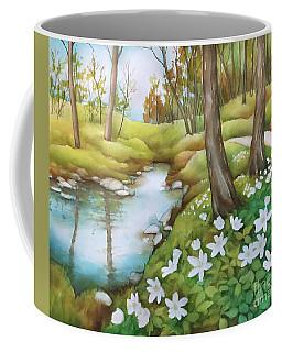 Spring At Creek Coffee Mug