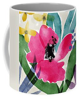 Spring Garden Pink- Floral Art By Linda Woods Coffee Mug