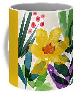 Spring Garden Yellow- Floral Art By Linda Woods Coffee Mug