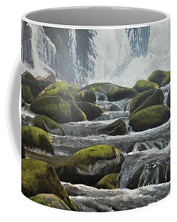 Coffee Mug featuring the painting Spring Harlequins by Peter Mathios