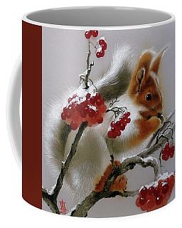 Squirrel With Rowan Berries Coffee Mug