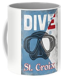 St Croix Vintage Scuba Diving Mask Coffee Mug