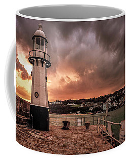 St Ives Cornwall - Lighthouse Sunset Coffee Mug