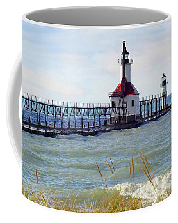 St. Joe Michigan Lighthouse Coffee Mug