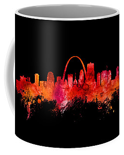 St Louis Missouri Skyline Custom Color Red Coffee Mug