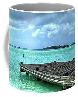 Coffee Mug featuring the photograph St. Maarten Pier In Aqua Caribbean Waters by Bill Swartwout Fine Art Photography